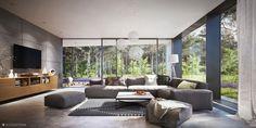"""Osiedle domów jednorodzinnych """"Centuria"""" - wnętrze / """"Centuria"""" single family houses development - interior by Kooperatywwa"""