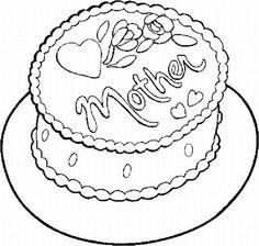 cakeformothersdaycoloringpagesjpg 674
