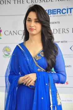 Glamorous Tamannaah Bhatia Hot Photos In Blue Dress