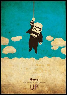Minimalist Pixar's Disney A3 poster UP by cutejungle on Etsy