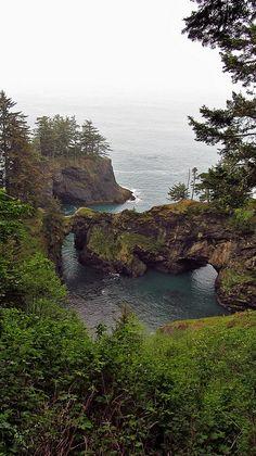 Natural Bridges   Oregon Coast Trail Samuel H. Boardman Park, stop 3!! :)
