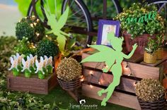 With a bit of faith, trust, and pixie dust this Tinkerbell Fairy Garden Party at Kara's Party Ideas creates a delightful birthday celebration! Tinkerbell Party Theme, Fairytale Birthday Party, Tinkerbell Fairies, Garden Birthday, Disney Birthday, Birthday Party Favors, Disney Fairies, Tinker Bell, Forest Party