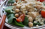 Chickpea, Quinoa and Spinach Salad (Low GI, Vegan)