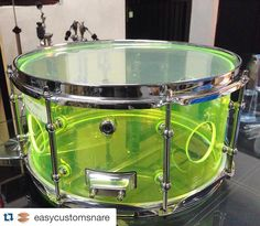 """Check this out --> #Repost @easycustomsnare with @repostapp.  Sale acrylic snare 13x7"""" neon green with 4 ventholesingle tube lugstriple flange hoopclassic throw offchrome hardware Free ongkir  For price and Contact check in bio #acrylicsnare #easysnare #easycustomsnare #indonesianmade #drumdesign #drumporn #indonesiandrummer #customdrums #customsnare #acrylicdrum #acrylicsnare by harryeasystep"""