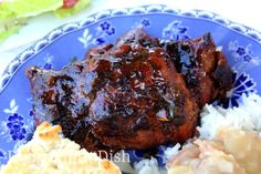 Cajun style sticky chicken, made with boneless, skinless thighs, seared in butter and oil, caramelized with brown sugar and finished with a rich, trinity enhanced roux.