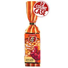 12-count case of 9 oz bags of Jelly Belly Candy Corn flavor jelly beans. Jelly beans with the creamy flavor of our famous candy corn! Vanilla