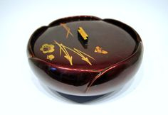 Occupied Japan Lacquered Bowl with Lid / Signed