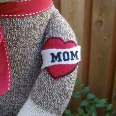 Mom Tattoo to add to any Sock Monkey by MarysMonkeys on Etsy, $5.50