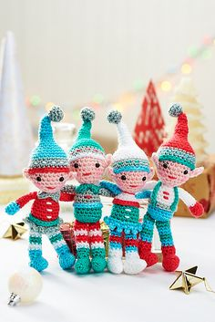 Ravelry: Christmas Elves pattern by Moji-Moji Design
