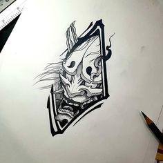 """@_gumjung on Instagram: """"👹 예약완료!🤗 카톡:zzangsiro . . . . . . . . . . . . . . . . . #전주타투 #군산타투 #객사타투 #익산타투 #한야타투 #한야 #hannya #hannyamask #hannyamasktattoo…"""" Japan Tattoo Design, Tattoo Design Drawings, Japanese Tattoo Art, Japanese Tattoo Designs, Oni Maske, Tattoo Mascara, Buddhism Tattoo, Hannya Mask Tattoo, Chinese Symbol Tattoos"""
