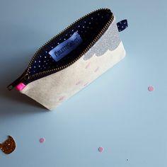 Pochette nuage glitter par Arlettegrimm sur Etsy