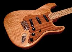 A custom Stratocaster, with a wood looking effect
