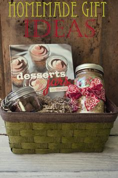 Gift From the Kitchen: Monster Cookie Mix in a Jar Gift Basket with Desserts in Jars cookbook by Shaina Olmanson at TidyMom.net