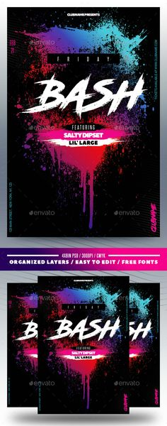 #Neon #Nightclub #Flyer - Clubs & Parties Events