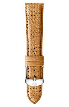Women's MICHELE 20mm Leather Watch Strap - Tan