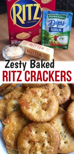 Ritz Crackers, Seasoned Crackers, Recipes Appetizers And Snacks, Dessert Recipes, Ritz Cracker Recipes, Creative Snacks, Party Finger Foods, Salty Snacks, Ranch