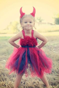 devil tutu dress - this would be so cute for the girls' halloween costume!!