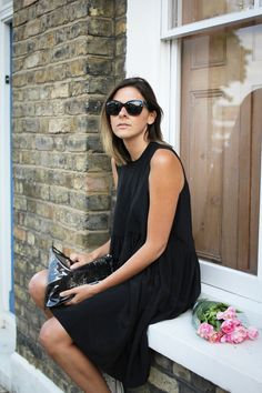Chilling in a window sill… love her suggestions on fashion and life!