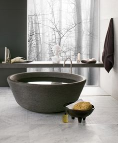 Neutra - SPA bathtub, Basaltina stone