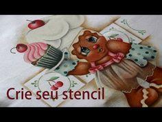 Pintura em tecido - Como criar seu stencil. - YouTube