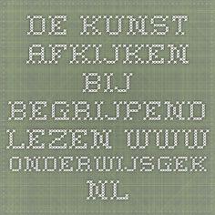 de kunst afkijken bij begrijpend lezen www.onderwijsgek.nl