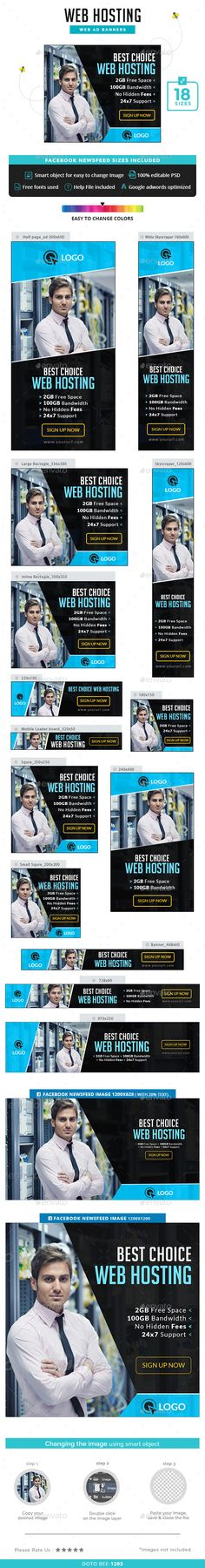 Web Hosting Banners Template PSD. Download here: http://graphicriver.net/item/web-hosting-banners/15233579?ref=ksioks