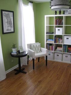 love this apple green color for a future office redo at the preschool!! Have to credit Deane Lotts with the idea!! SweetDaphne (Benjamin Moore)