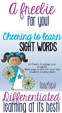 Differentiated sight word activities for teaching preschool, kindergarten and older grades! Great for kinesthetic, auditory and visual learners. Primary Teaching, Free Teaching Resources, Teaching Activities, Guided Reading Strategies, Teaching Sight Words, Kindergarten Curriculum, Special Education Classroom, Student Learning, Grade 1