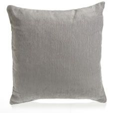 Wilko Chenille Cushion Grey 43x43cm