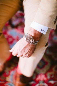 monogram cuff   Anna Routh #wedding