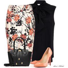 Floral & Black