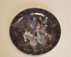 Forest Enchantment Fairyland Bradford Collector Unicorn Plate 1994 by Mimi Jobe
