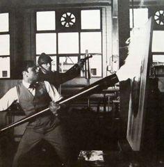"""Now this is extreme art -- Yves Klein, Making """"Fire Paintings"""" at the Centre d'Essais du Gaz de France, Paris. Yves Klein, Jean Tinguely, International Klein Blue, Nouveau Realisme, Rose Croix, Fire Painting, Monochrom, Portraits, Klimt"""