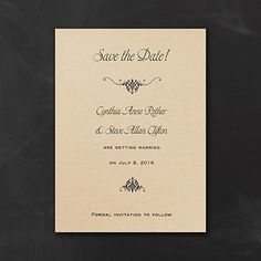 Wrapped in Gold Wedding Save the Date Card and Envelope  |  40% OFF  |  http://mediaplus.carlsoncraft.com/Wedding/Save-the-Dates/1080-WR1427A-Wrapped-in-Gold--Save-the-Date-Card-and-Envelope.pro