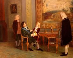 Peter the Great with the young King Louis XV of France at Versailles. French History, Art History, French Royalty, Peter The Great, Palace Of Versailles, Ludwig, French Revolution, 18th Century, Cool Stuff