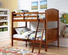 Donco Kids T/T Arch Panel Bunk Bed Oak Oak 314TTO