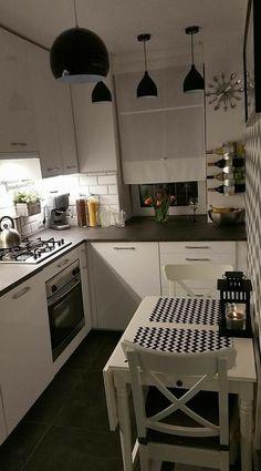 Kitchen Room Design, Home Room Design, Home Decor Kitchen, Interior Design Kitchen, Home Kitchens, Small Apartment Kitchen, Cuisines Design, Küchen Design, Kitchen Remodel