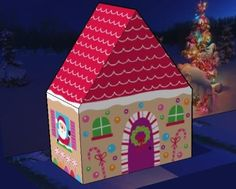 Christmas Time - Santa`s Gingerbread House Paper Model - by Nina Seven - via We Love To Illustrate   - == -  A delicate and easy-to-build paper model of a Christmas decorative House, the Santa`s Gingerbread House, created by designer Nina Seven and originally posted at We Love To Illustrate website.