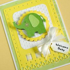 New Baby Card Baby Boy Card Baby Girl Card by PuppyLoveCreations, $4.50