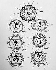 Happy chakra tattoos for the new year! Yoga Tattoos, Bild Tattoos, Body Art Tattoos, New Tattoos, Small Tattoos, Sleeve Tattoos, Shiva Tattoo, Ohm Tattoo, Mantra Tattoo