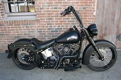 tricked out harley davidson softail deluxe   Harley Davidson Softail Deluxe Denium Black Murdered Out 21 Wheel ...