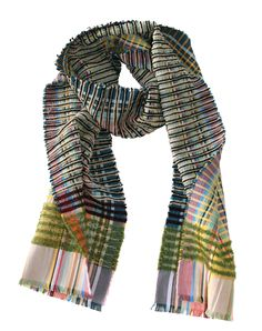 "Silk, Chenille and Mohair scarf ""Karloff"" www.wallacesewell.com"
