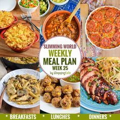 Slimming Eats Weekly Meal Plan – Week 25