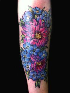 Tattoo chrysanthemum tattoo red lily floral sleeve tattoos b Bad Tattoos, 1 Tattoo, Girly Tattoos, Trendy Tattoos, Sexy Tattoos, Cute Tattoos, Beautiful Tattoos, Flower Tattoos, Body Art Tattoos