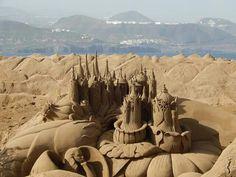 Belen de arena playa de las canteras