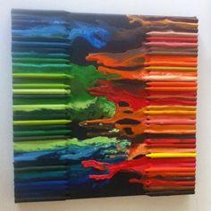 Melted Crayon Art (14 Pics)