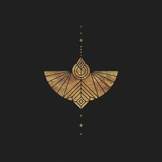 Sacred geometry butterfly, symbol icon Black and gold geometric composition desi. Motifs Art Nouveau, Motif Art Deco, Art Deco Tattoo, Petit Tattoo, Handpoke Tattoo, Brainstorm, Grafik Design, Geometric Art, Sacred Geometry
