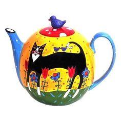 Henricksen  Cats in Bloom Decorative Teapot