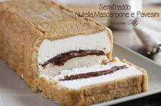 Semifreddo di Pavesini al Mascarpone e Nutella è una vera bomba calorica..ma assolutamente buonissimo :) Frozen Desserts, No Bake Desserts, Dessert Recipes, Nutella, Italian Pasta Recipes, Frozen Custard, Food Fantasy, Pastry Cake, Ice Cream Recipes
