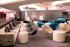 Most Luxurious Airport Lounges: Virgin Atlantic Clubhouse, Heathrow Airport, London (UK)